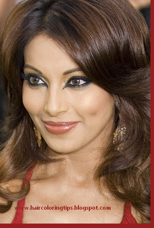 Two Tone Hair Color Red And Black. Bollywood hair color,Bollywood