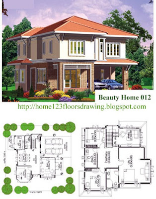 Beautiful House Plans on Beautiful Home Plans House Drawings 1 2 3 Floors And Landscape