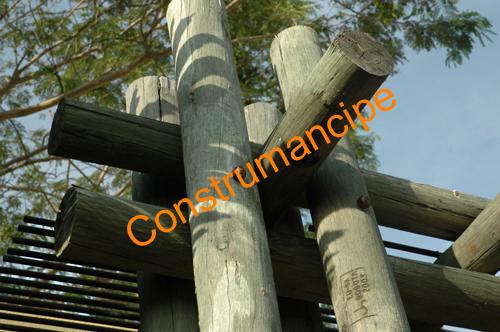 Uniones en madera rolliza