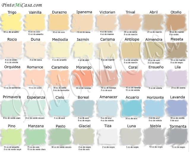 Viniltex pintuco carta colores - Imagui