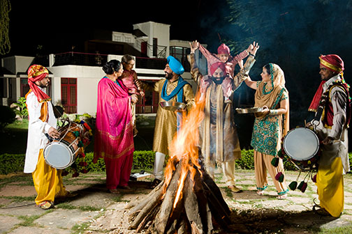 The celebration of Lohri Day marks the end of winter.