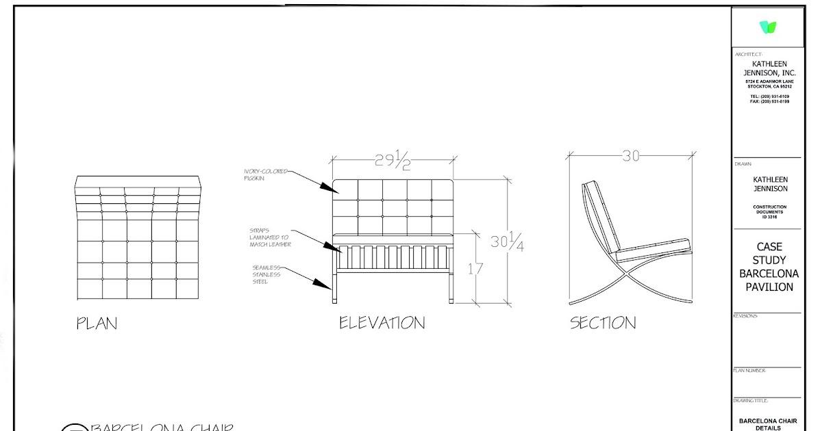 Plan Elevation Of Chair : Kathleen jennison interior designer modern furniture