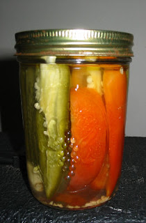JoyDad canned a peck o' pickled peppers