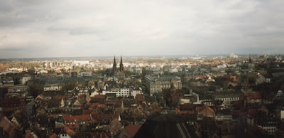 View of Strasbourg from the top of the cathedral