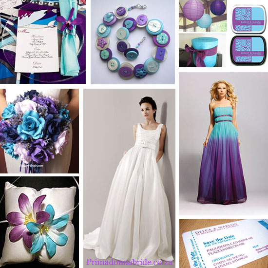 Vineeta 39 s blog page stationery classic wedding invitation - Purple and blue combination ...