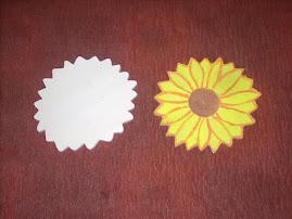 Floarea soarelui diametrul de 12 cm