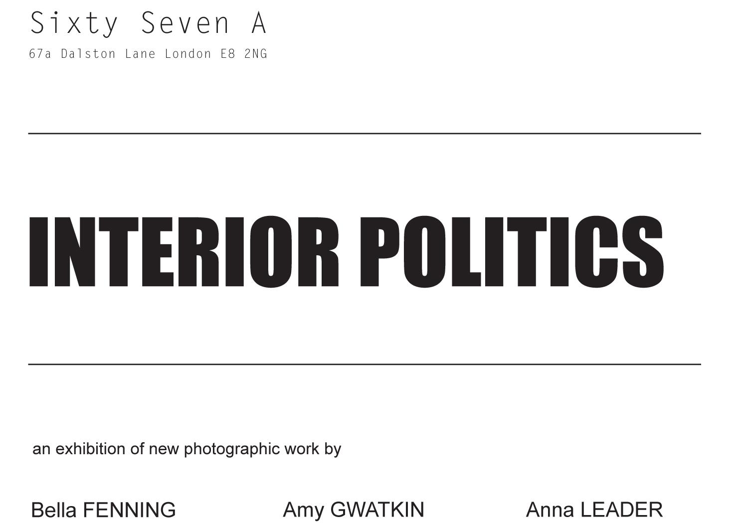 Interior Politics