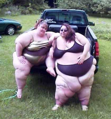 fat person in bikini. When a person gains weight,