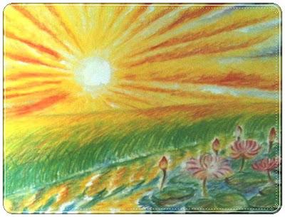 แดดอ่อน ๆ ยามเช้า สาดแสงลงมากระทบระลอกคลื่นเหนือบึงใหญ่ เป็นริ้วทอประกายระยิบระยับ