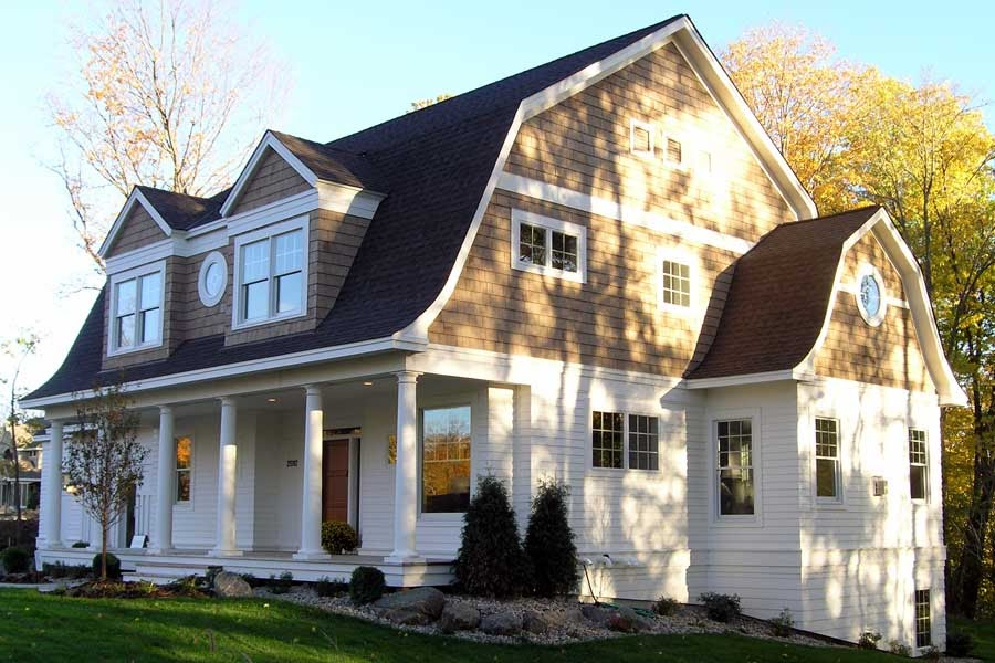 Simply elegant home designs blog new dutch colonial house for Modern colonial home exterior