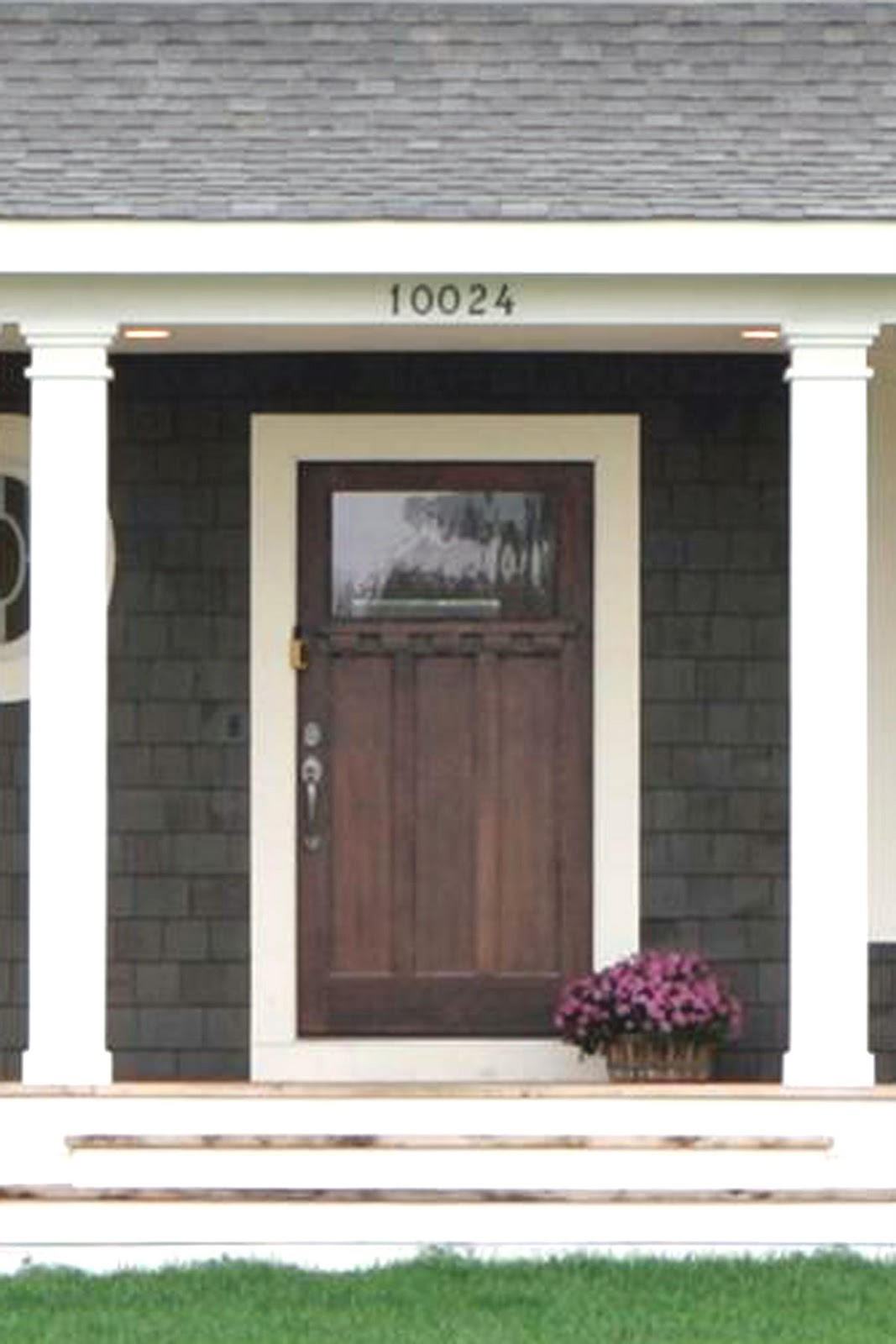 Front doors on pinterest cape cod yellow doors and porticos for Wooden house exterior design