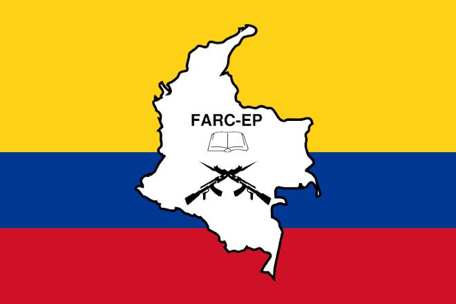 Bandeira das Forças Armadas Revolucionárias da Colômbia.