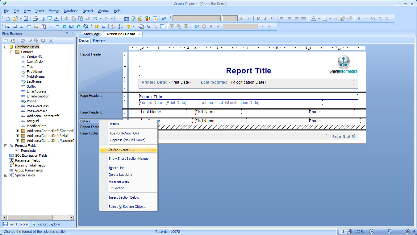 crystal reports help Taking advantage of crystal reports user can learn how to generate a basic report from arcmap layers sentence description of the report will help.