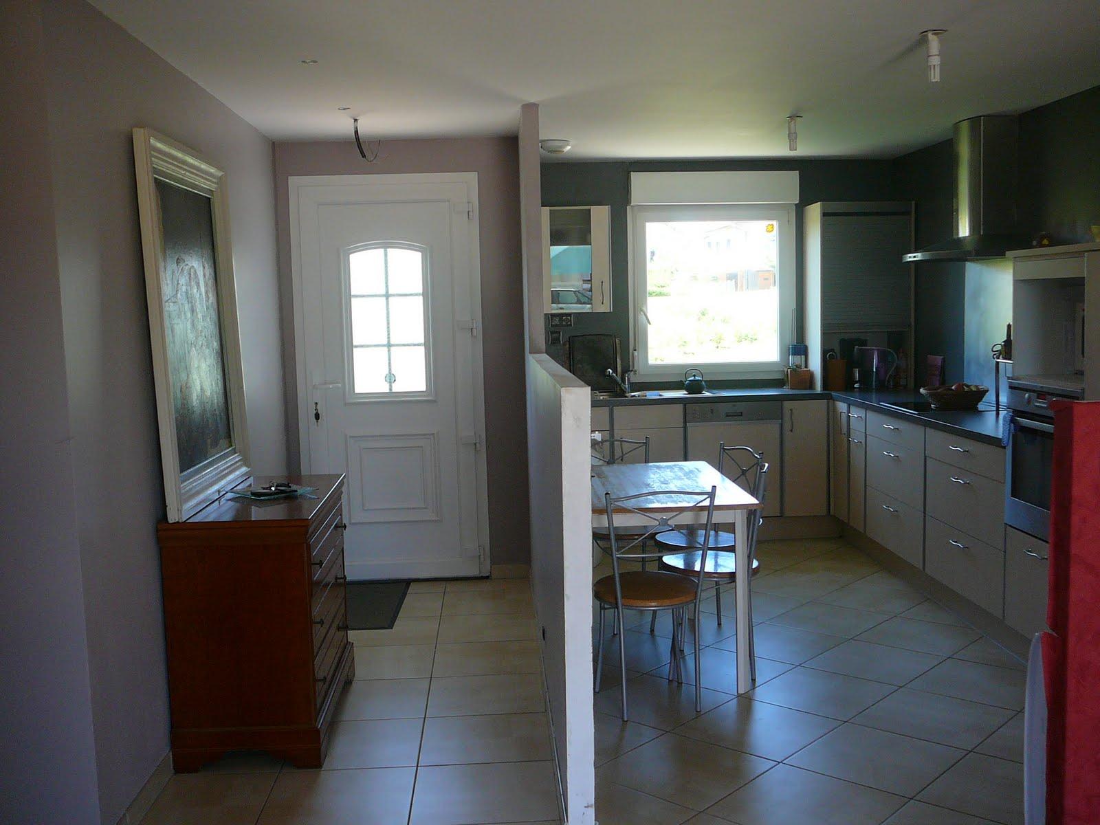 Bien connu Maison bleue à découvrir: entrée et cuisine semi ouverte ZU01