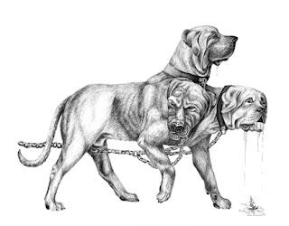 cerberus hell dog cão do inferno three heads três cabeças