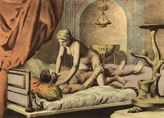 Woman on top position Édouard-Henri Avril pintura sexualidade painting sexuality