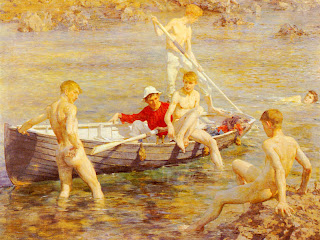 Ruby Gold and Malachite Henry Scott Tuke painter landscape boat nude boys gay painture pintura barcos paisagem sea mar barco
