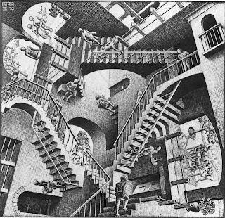 Relatividade Maurits Cornelis Escher desenho Relativity