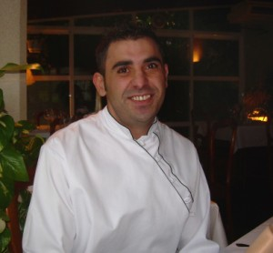 Chef Jesús Vindel at Samantha's, Palma