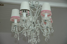 Chandelier with Crystals and Licorice Trim!