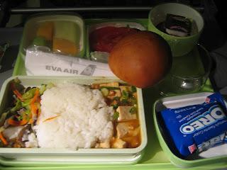EVA Air - economy class meal #1 - Mapo tofu