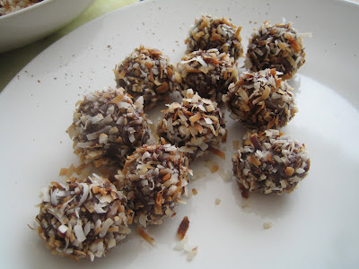 dark chocolate w/ toasted coconut truffles