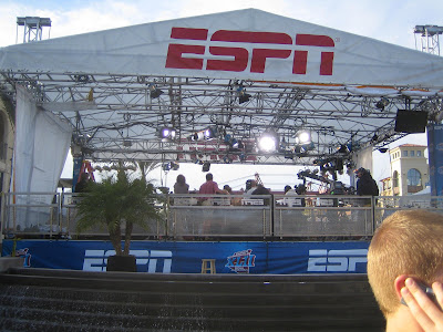 ESPN broadcasting from Scottsdale Waterfront