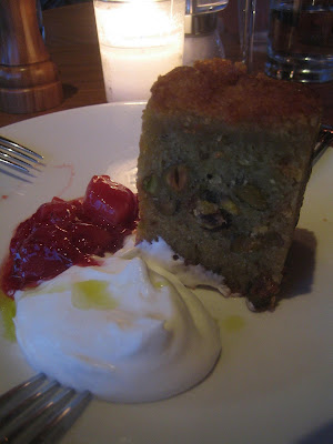 Radio Milano - olive oil cake w/ housemade jam & thickened cream