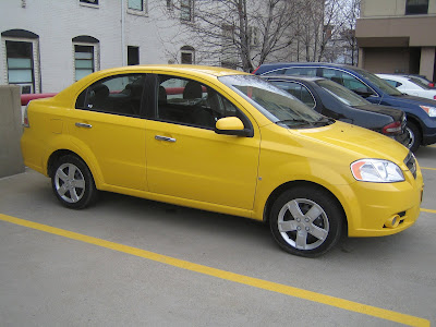 2009 Chevy Aveo in Summer Yellow