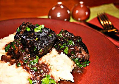 Wine and Garlic Braised Short Ribs