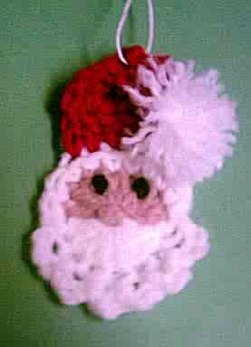 Free Crochet Pattern:Icicle Santa Ornament