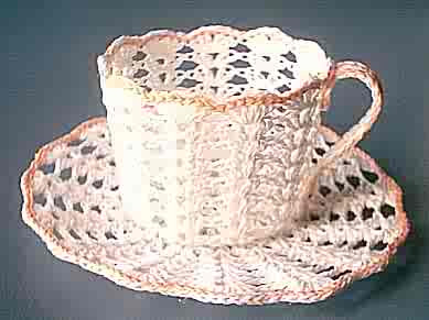 Twee Cup and Saucer - AllFreeCrochet.com - Free Crochet Patterns