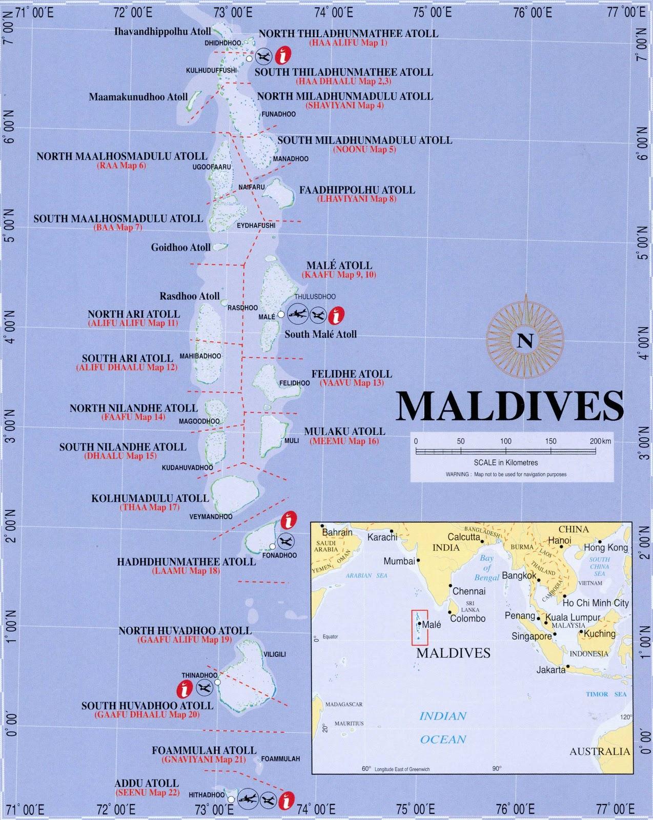 Maps of Maldives December 2010