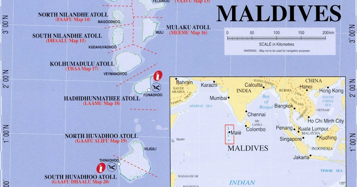Maps of Maldives General map of Maldives