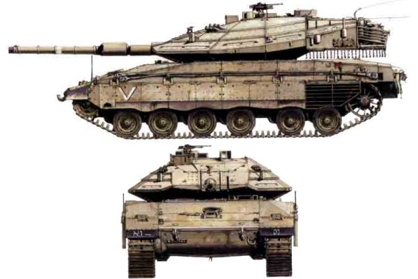 الله أكبر ..تطوير مصري لـ M60 ....... Merkava_4_main_battle_tank_Israel_Israeli_Army_line_drawing_blueprint_001