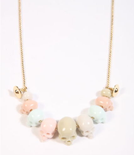 seriously vivienne westwood small skull bead necklace