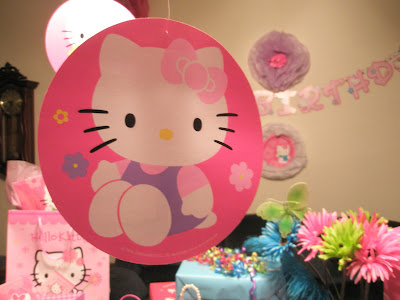 Her Hello Kitty themed birthday party clearly called for custom Hello Kitty