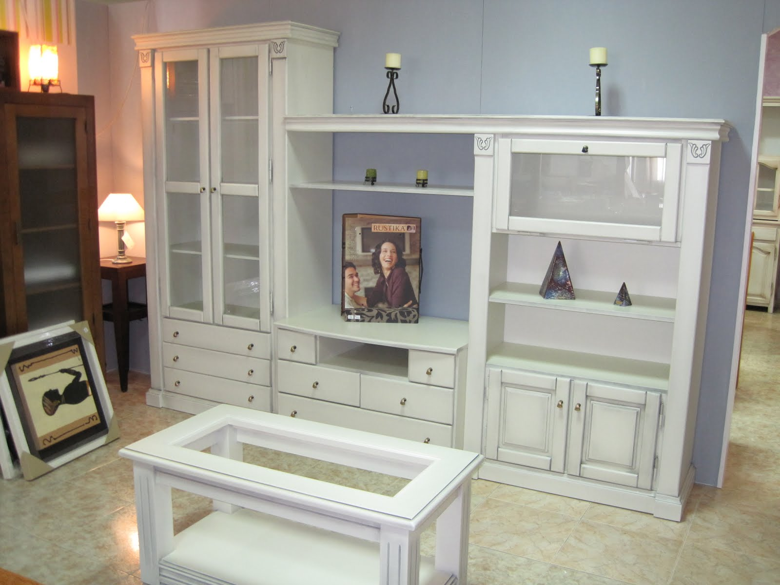 Muebles arcecoll muebles neoclasico en blanco for Muebles de salon clasicos en blanco