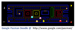 Pac-Man Doodle on Google