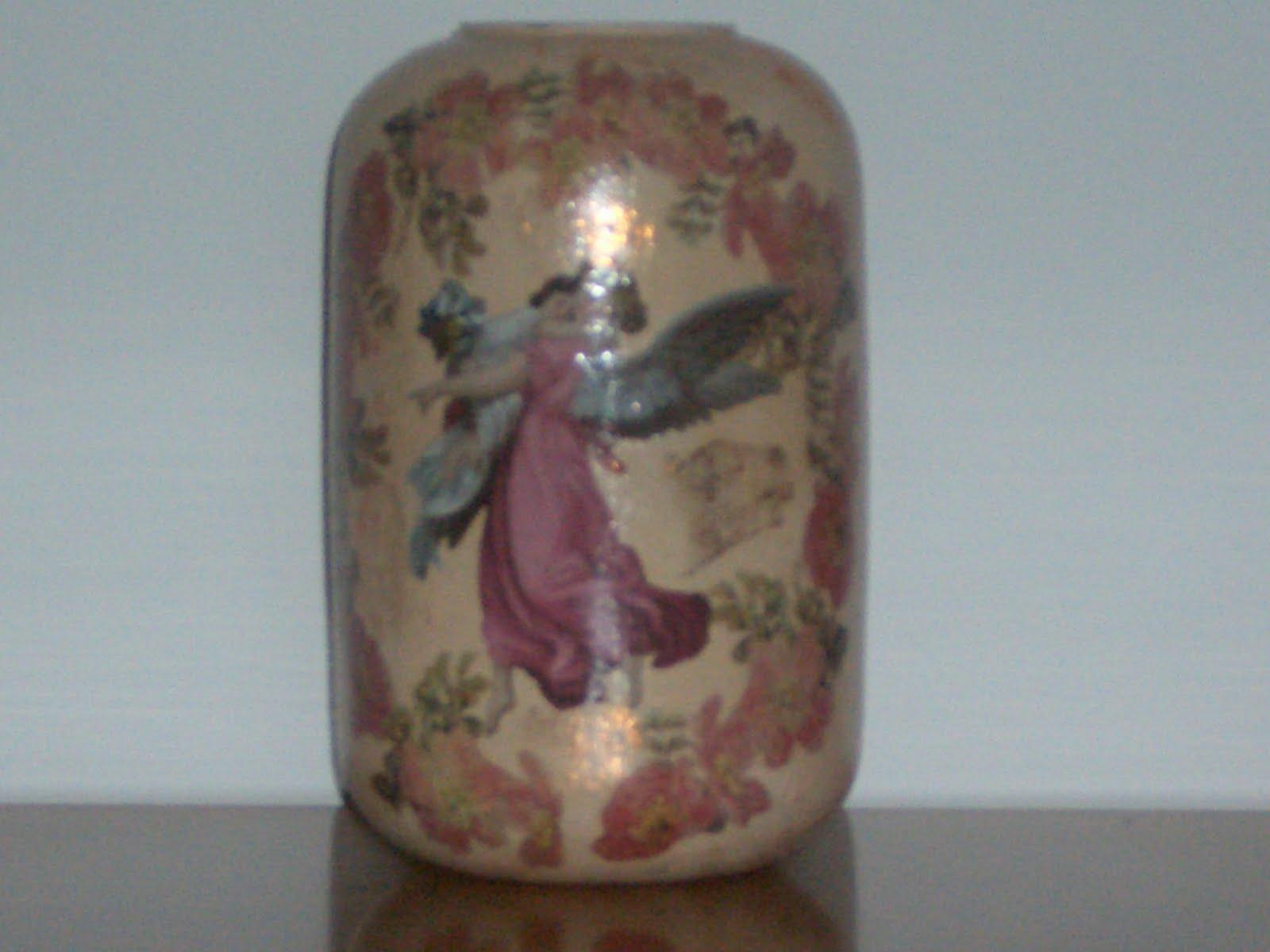 Alicehobby decoupage vaso anticato for Decoupage su vaso di vetro
