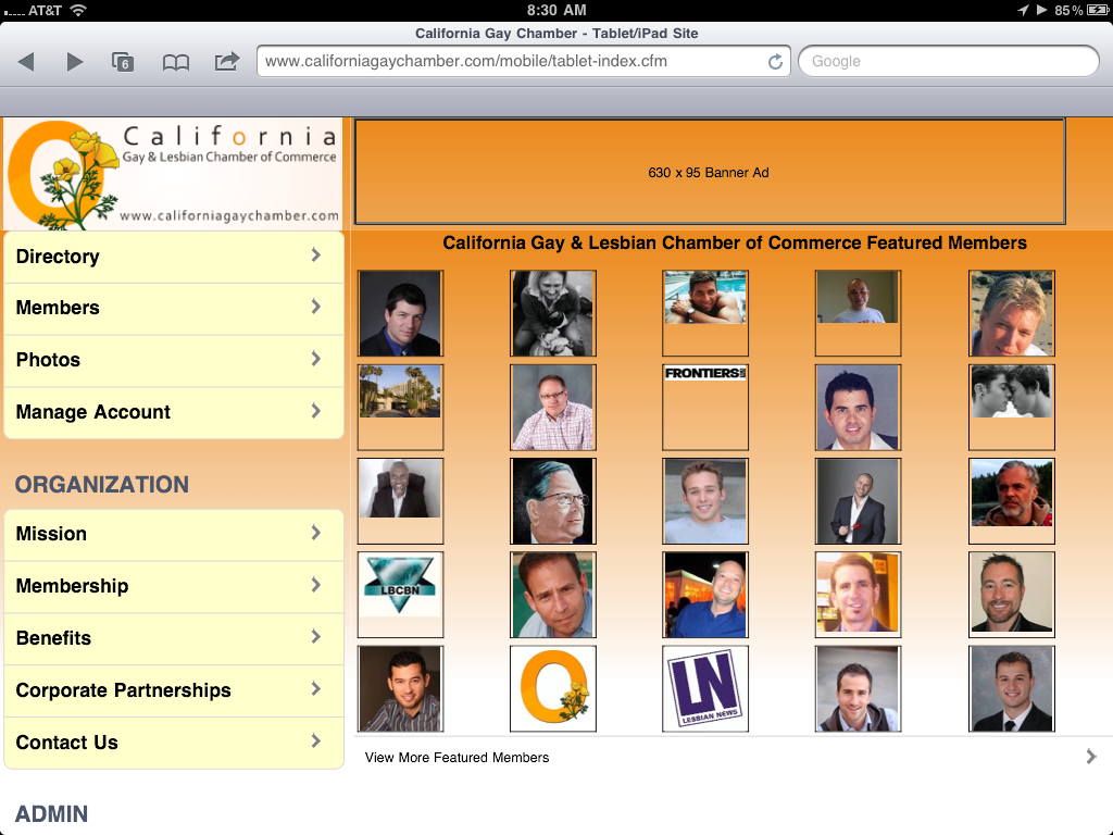 Viewing a member's business profile has been optimized for the smartphone ...