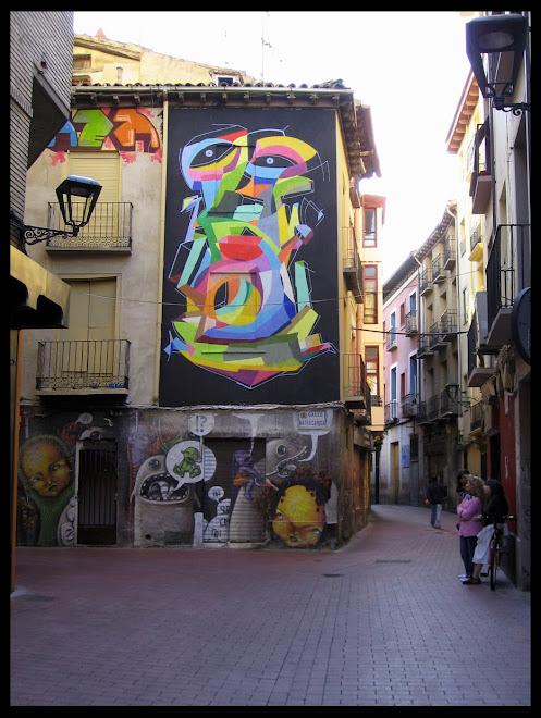 Grafiti realizado por Kenor (Artista Barcelonés)