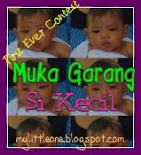 my first ever contest:muka garang si kecil