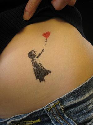 girl with a heart balloon