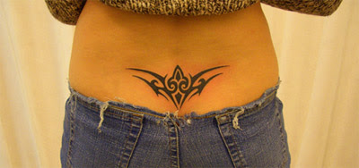 Lower back tattoo