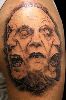 Faces tattoo