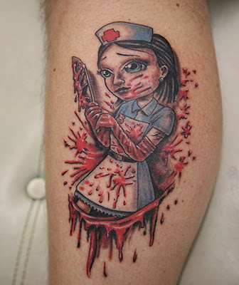 blood tattoo