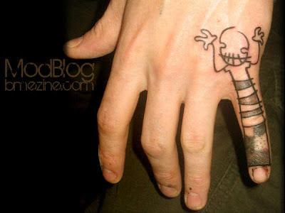 Labels: Finger tattoo, Funny tattoo