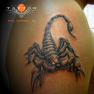 Here are some examples of scorpion tribal tattoo designs: