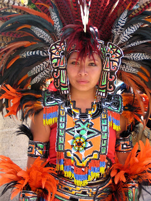 Robin Talks, Cooks and Travels: The Conchero Dancers are ... Indigenous Aztec Women